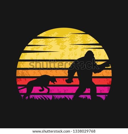 yeti and cheetah sunset retro