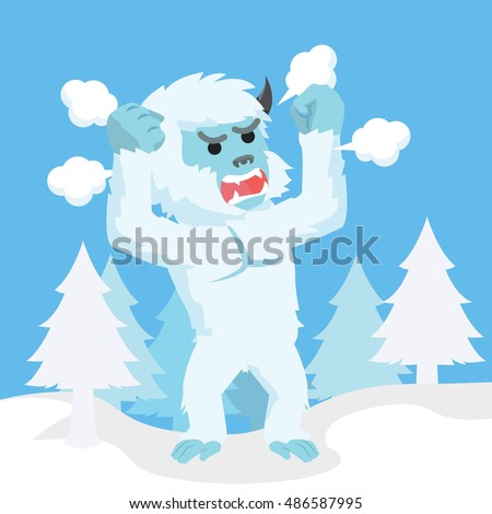 yeti angry illustration design