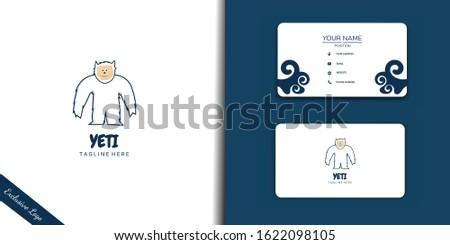 yeti is mythology animal  logo