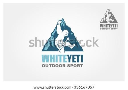 yeti  vector logo template