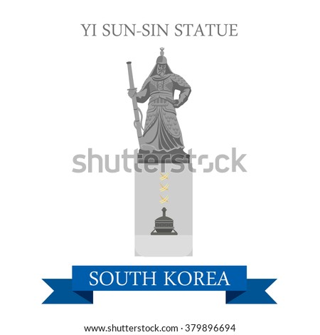 yi sun sin statue in south
