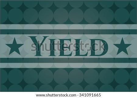 Yield card, colorful, nice desing