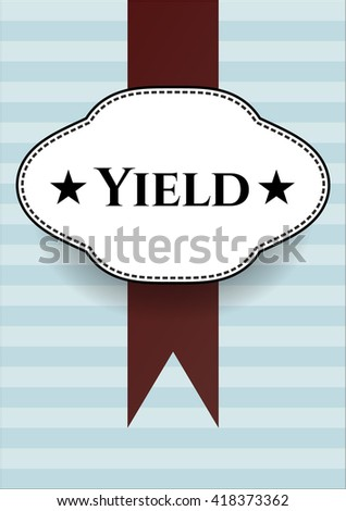 Yield card or banner