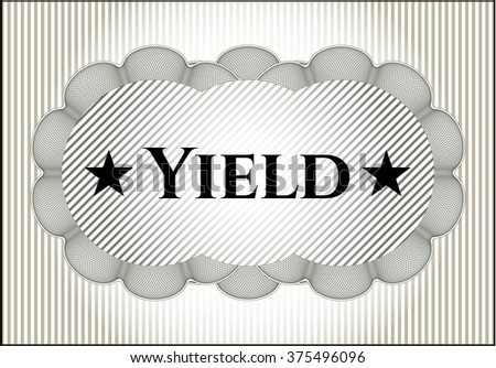 Yield card with nice design