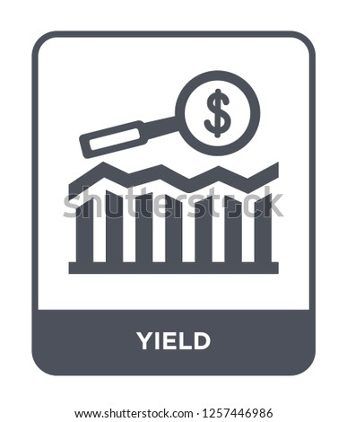 yield icon vector on white background, yield trendy filled icons from Marketing collection, yield simple element illustration