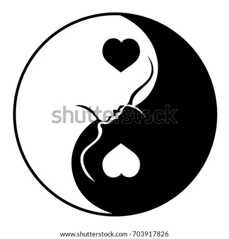 yin and yang love of man and