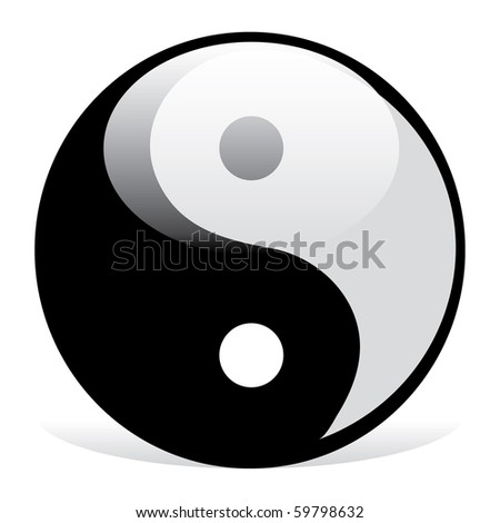 Yin and Yang symbol - stock vector