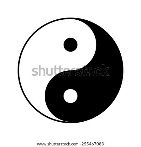 Yin and yang symbol, vector illustration