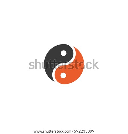 yin and yang vector symbol