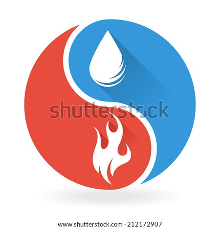 yin yang concept   water and