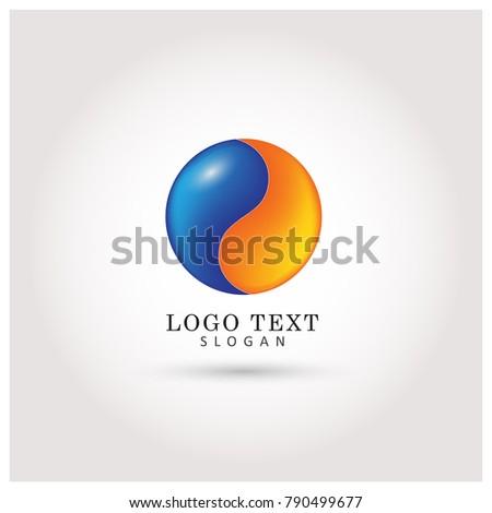 yin yang globe   color logo