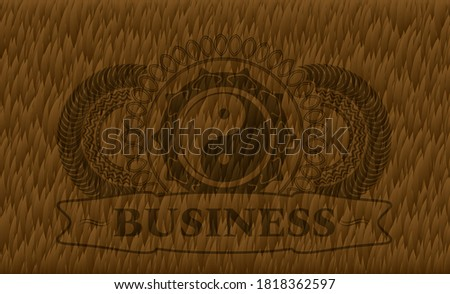 yin yang icon and business text