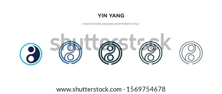 yin yang icon in different