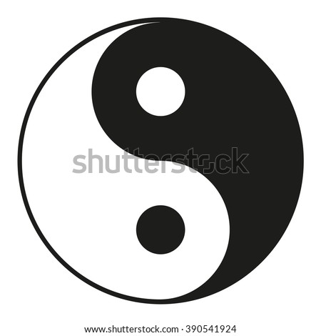 yin yang icon isolated on a