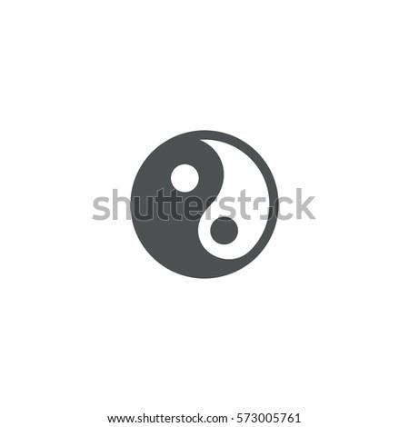yin yang icon sign design