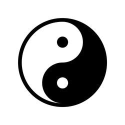 Yin yang icon. Symbol of harmony and balance.
