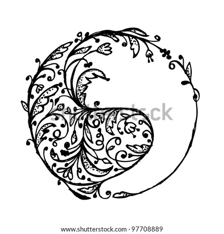 Yin yang sign, sketch for your design