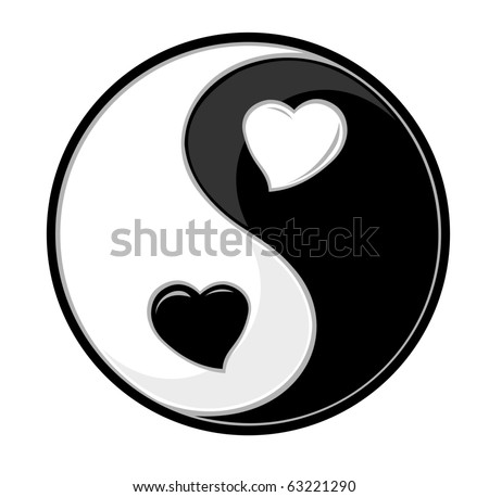 Yin yang symbol of harmony and love