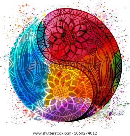 Yin yang symbol. Vector illustration. Stock photo ©