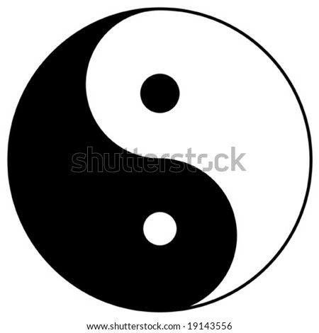 yin yang, taoistic symbol of harmony and balance