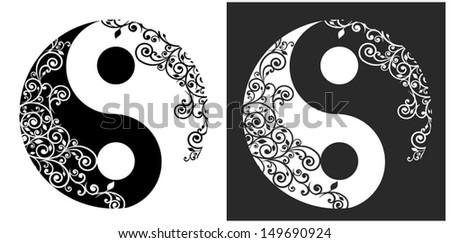 yin yang two pattern symbol