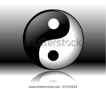 Ying or Yang vector file with shadow and background