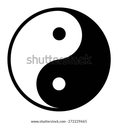 ying yang balance flat icon for