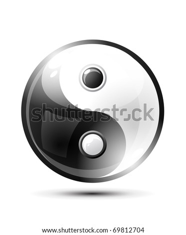 Ying yang symbol of harmony and balance - stock vector