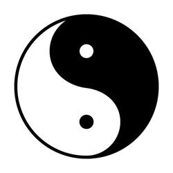 Ying yang symbol - vector illustration