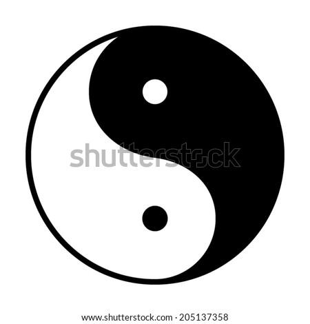 Stock Photo Ying yang symbol - vector illustration