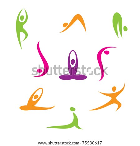 Yoga - a set of icons