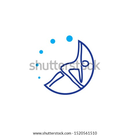 Yoga Aerobic people health logo vector