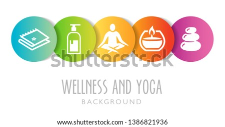 Yoga And Wellness Background - can be used as an illustration or banner for a yoga or wellness studio