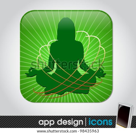 yoga app icon for mobile devices