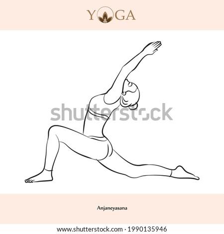 yoga asana poses with names vector illustration Photo stock ©