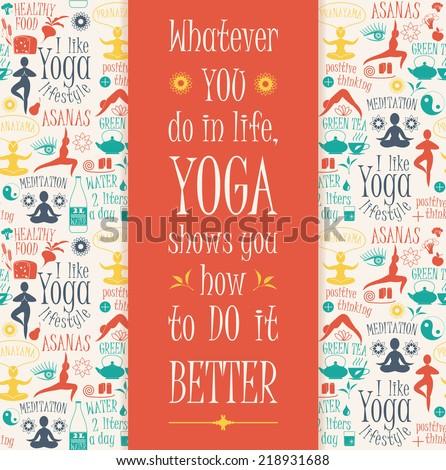 yoga background with yogic