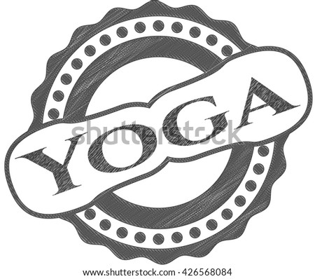 Yoga draw (pencil strokes)