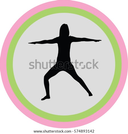 yoga exercise silhouette