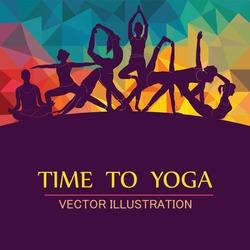 Yoga Fitness Concept. Vector illustration