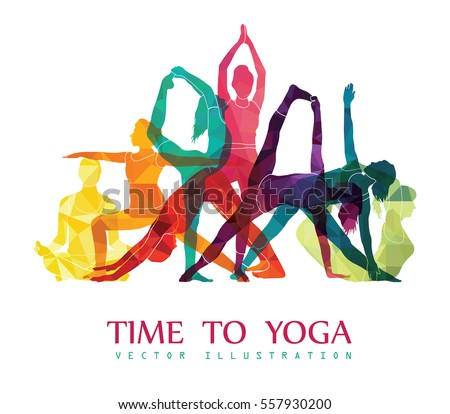 Yoga Fitness Concept. Vector illustration