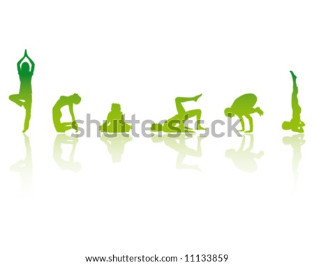 YOGA Girls Vector Illustration