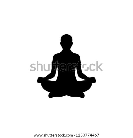 Yoga icon, logo on white background