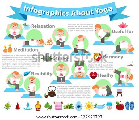 yoga infographics  yoga icons