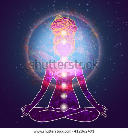 Yoga is a set of different spiritual, mental  physical yoga practices, beautiful card with Vector yoga Card for yoga texturesand logos. Types practices is Raja, Karma, Jnana, Bhakti, Hatha