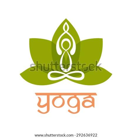 Yoga Logo design vector template. Alternative medicine sign.