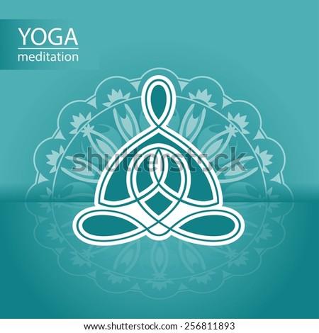 yoga logo on the background of