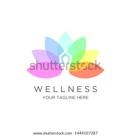 yoga logo vector emblem  luxury