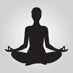 yoga. lotus position silhouette. vector shape