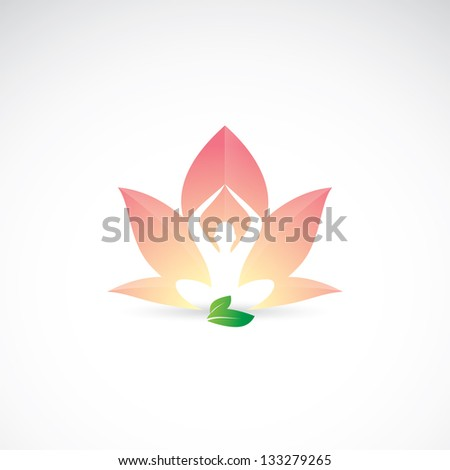 Yoga - lotus position - vector illustration