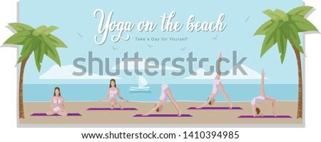 yoga on the beach outdoor yoga